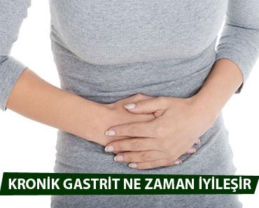 kronik ve akut gastrit ne kadar sürede geçer